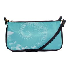 Cyan Abstract Flowers Evening Bag by BestCustomGiftsForYou