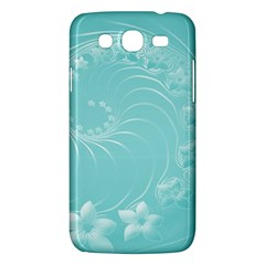 Cyan Abstract Flowers Samsung Galaxy Mega 5 8 I9152 Hardshell Case  by BestCustomGiftsForYou