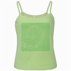 Pastel Green Abstract Flowers Green Spaghetti Tank by BestCustomGiftsForYou