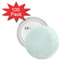 Pastel Green Abstract Flowers 1.75  Button (100 pack)