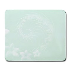 Pastel Green Abstract Flowers Large Mouse Pad (Rectangle)