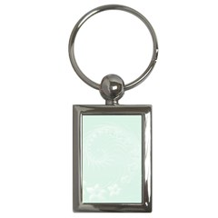 Pastel Green Abstract Flowers Key Chain (rectangle) by BestCustomGiftsForYou