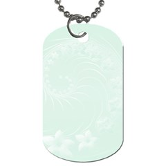 Pastel Green Abstract Flowers Dog Tag (One Sided)
