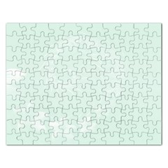 Pastel Green Abstract Flowers Jigsaw Puzzle (rectangle)