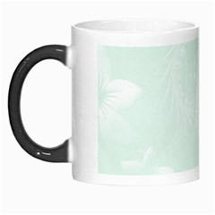 Pastel Green Abstract Flowers Morph Mug by BestCustomGiftsForYou