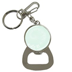 Pastel Green Abstract Flowers Bottle Opener Key Chain by BestCustomGiftsForYou