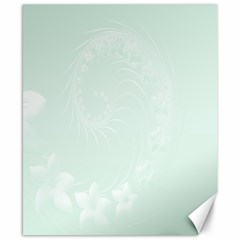 Pastel Green Abstract Flowers Canvas 8  x 10  (Unframed)