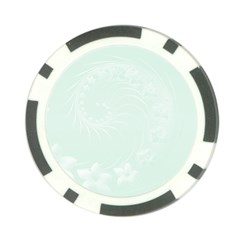 Pastel Green Abstract Flowers Poker Chip by BestCustomGiftsForYou