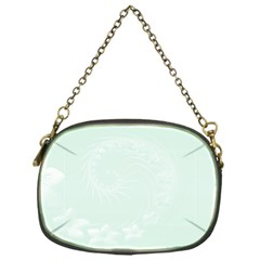 Pastel Green Abstract Flowers Chain Purse (one Side) by BestCustomGiftsForYou