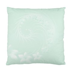 Pastel Green Abstract Flowers Cushion Case (one Side)