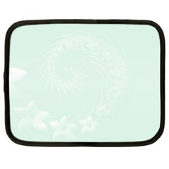 Pastel Green Abstract Flowers Netbook Case (xxl) by BestCustomGiftsForYou