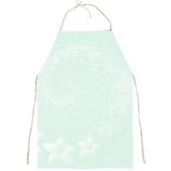 Pastel Green Abstract Flowers Apron