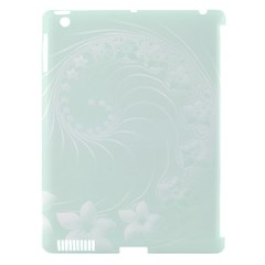 Pastel Green Abstract Flowers Apple Ipad 3/4 Hardshell Case (compatible With Smart Cover) by BestCustomGiftsForYou
