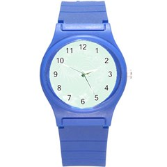 Pastel Green Abstract Flowers Plastic Sport Watch (Small)