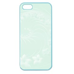 Pastel Green Abstract Flowers Apple Seamless iPhone 5 Case (Color)