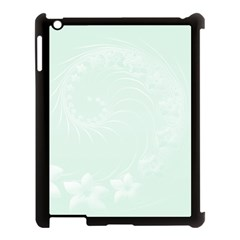 Pastel Green Abstract Flowers Apple Ipad 3/4 Case (black) by BestCustomGiftsForYou