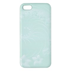 Pastel Green Abstract Flowers iPhone 5 Premium Hardshell Case