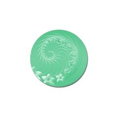 Light Green Abstract Flowers Golf Ball Marker 4 Pack by BestCustomGiftsForYou