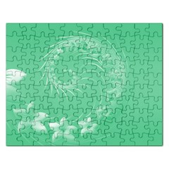 Light Green Abstract Flowers Jigsaw Puzzle (rectangle)
