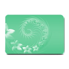 Light Green Abstract Flowers Small Door Mat by BestCustomGiftsForYou