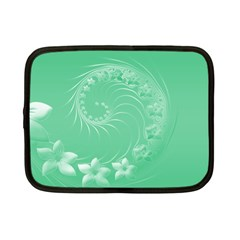 Light Green Abstract Flowers Netbook Case (small) by BestCustomGiftsForYou