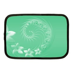 Light Green Abstract Flowers Netbook Case (medium) by BestCustomGiftsForYou
