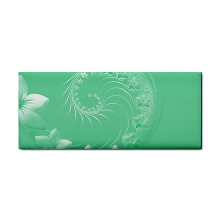 Light Green Abstract Flowers Hand Towel