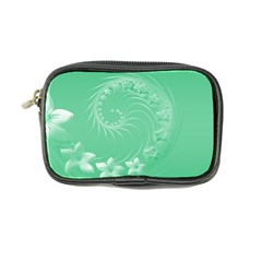 Light Green Abstract Flowers Coin Purse by BestCustomGiftsForYou