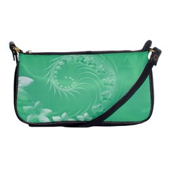 Light Green Abstract Flowers Evening Bag by BestCustomGiftsForYou