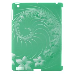 Light Green Abstract Flowers Apple Ipad 3/4 Hardshell Case (compatible With Smart Cover) by BestCustomGiftsForYou