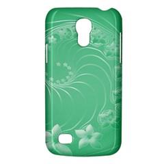Light Green Abstract Flowers Samsung Galaxy S4 Mini Hardshell Case  by BestCustomGiftsForYou