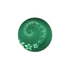 Green Abstract Flowers Golf Ball Marker 4 Pack by BestCustomGiftsForYou