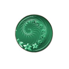 Green Abstract Flowers Golf Ball Marker (for Hat Clip) by BestCustomGiftsForYou