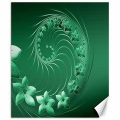 Green Abstract Flowers Canvas 20  X 24  (unframed) by BestCustomGiftsForYou