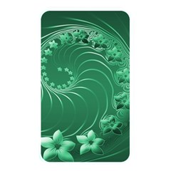 Green Abstract Flowers Memory Card Reader (Rectangular) by BestCustomGiftsForYou
