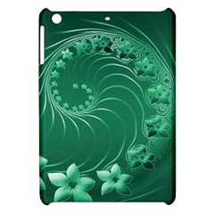 Green Abstract Flowers Apple Ipad Mini Hardshell Case by BestCustomGiftsForYou