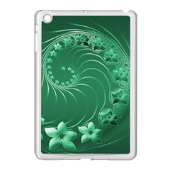 Green Abstract Flowers Apple Ipad Mini Case (white) by BestCustomGiftsForYou