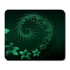Dark Green Abstract Flowers Large Mouse Pad (rectangle) by BestCustomGiftsForYou