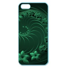 Dark Green Abstract Flowers Apple Seamless Iphone 5 Case (color) by BestCustomGiftsForYou