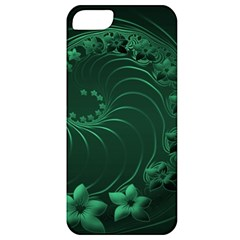 Dark Green Abstract Flowers Apple Iphone 5 Classic Hardshell Case by BestCustomGiftsForYou