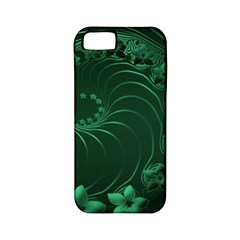 Dark Green Abstract Flowers Apple Iphone 5 Classic Hardshell Case (pc+silicone) by BestCustomGiftsForYou