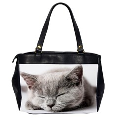 Cat By Divad Brown   Oversize Office Handbag (2 Sides)   C44jt6a9vofa   Www Artscow Com Back