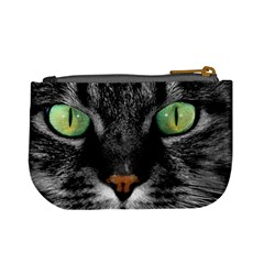 Cat By Divad Brown   Mini Coin Purse   3ka61skyt9pc   Www Artscow Com Back