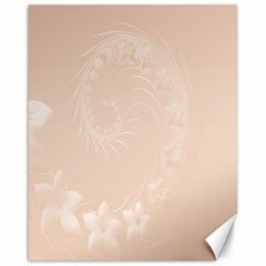 Pastel Brown Abstract Flowers Canvas 16  X 20  (unframed) by BestCustomGiftsForYou