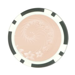 Pastel Brown Abstract Flowers Poker Chip by BestCustomGiftsForYou