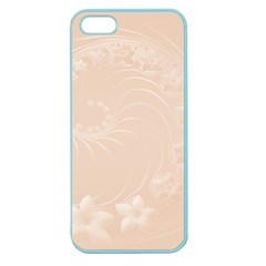 Pastel Brown Abstract Flowers Apple Seamless Iphone 5 Case (color) by BestCustomGiftsForYou
