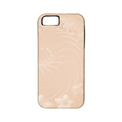 Pastel Brown Abstract Flowers Apple Iphone 5 Classic Hardshell Case (pc+silicone) by BestCustomGiftsForYou