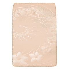 Pastel Brown Abstract Flowers Removable Flap Cover (small) by BestCustomGiftsForYou