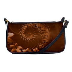 Brown Abstract Flowers Evening Bag by BestCustomGiftsForYou