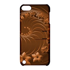 Brown Abstract Flowers Apple Ipod Touch 5 Hardshell Case With Stand by BestCustomGiftsForYou